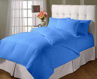 JaipurLinen Single Cotton Duvet Cover(Light Blue)