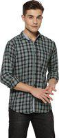 Campus Sutra Men Checkered Casual Spread Shirt