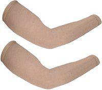 Stylewell Cotton Arm Sleeve For Men & Women(Free, Beige)