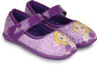 Disney Princess Girls Velcro Ballerinas(Purple)