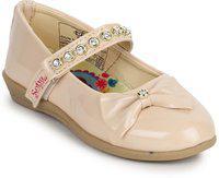 Disney Princess Girls Velcro Ballerinas(Beige)