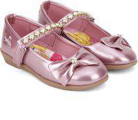 Disney Princess Girls Velcro Ballerinas(Pink)