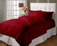 JaipurLinen Single Cotton Duvet Cover(Red)