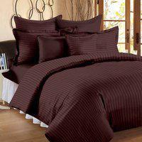 JaipurLinen Queen Cotton Duvet Cover(Brown)