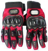 Probiker Bike Racing Motorcycle Riding Gloves(Red, Black)