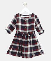 Gini & Jony Girls Midi/Knee Length Casual Dress(White, Sleeveless)