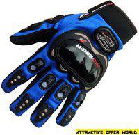 AOW ATTRACTIVE OFFER WORLD ATT-BLUE-XL-Z36 Riding Gloves(Blue)