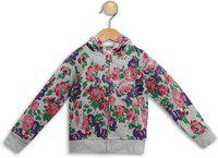 612 League Full Sleeve Floral Print Girls Sweatshirt