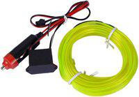 AutoRight EL Wire Car Interior Light Ambient Neon Light for Cars Car Fancy Lights(Green)