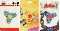 Disney GENUINE LICENSED MICKEY, BELL & AVENGER SPINNER ERASER - HMFKGS 0358-DS Non-Toxic Eraser(Set of 3, Multicolor)