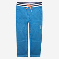 Cherry Crumble California Kids Unisex Cotton Solid Shapely Track Pants (Cyan, 18-24 Months)