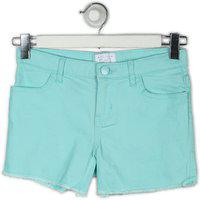 The Children's Place Short For Girls Casual Solid Cotton Lycra Blend(Light Blue, Pack of 1)