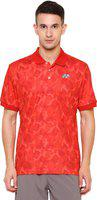 Yonex Military Camouflage Men's Polo Neck Red T-Shirt