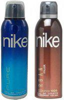 Nike Pure and Urban Musk Deodorant Spray for Men 200ML Each (Pack of 2) Deodorant Spray  -  For Men(200 ml, Pack of 2)