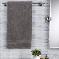 Maspar Cotton 420 GSM Bath Towel(Grey)
