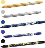 Color Fever shocking color kajal(golden, silver, navy blue, purple, black, 5.5 g)