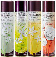 Premium The Art Of Fragrance Jasmine + Lemon + Rajnigandha + Rose 217 ml x 4 Pack Of 4 Room Spray(4 x 217 ml)