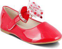 KITTENS Colour Red Ballerina Shoes for Girls