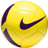 Nike Pitch Team Football - Size: 5(Pack of 1, Yellow, Purple)
