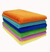 Sheen Microfiber Vehicle Washing Cloth(Pack Of 6)
