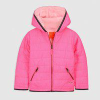 Cherry Crumble California Kids Unisex Polyester Solid Padded Jacket (Pink, 18-24 Months)