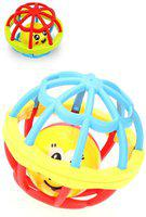 ToyVilla Non Toxic Soft and Safe Rattle Ball - Set of 2 Rattle(Multicolor)