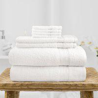Swiss Republic Cotton 480 GSM Bath Towel Set(Pack of 8, White)