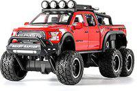 HALO NATION Highly Simulation Metal Die-cast Alloy Diecast 1:24 Scale F150 Raptor Big Wheel Toy Car Model Rock Crawler Climber Sound/Light/Pull-Back Car Toys for Children Kids Boys, - Red(Red, Pack of: 1)