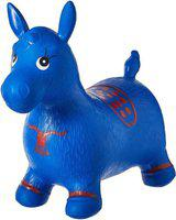 eEdgestore Inflatable Jumping & Bouncer Riding Horse Animal Toy for kids (Blue)(Blue)