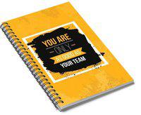 Paper Plane Design Spiral Journal A5 Diary Unruled 140 Pages(Yellow)