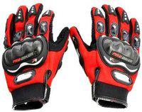 Probiker Full Riding/Driving/Cycling Sports Gloves/Riding Gear-AKZ2468 Riding Gloves(Red)