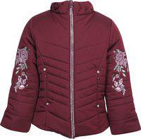Cutecumber Full Sleeve Embroidered Girls Jacket