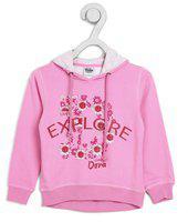 Dora Full Sleeve Floral Print Girls Sweatshirt
