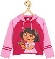 Dora Full Sleeve Graphic Print Girls Sweatshirt