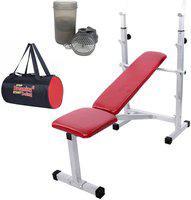 Lifeline Multi Bench 307 Bonus With Shaker Bottle and Gym Bag Home Gym Combo(100 - 120 kg)