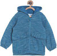 Mini Klub Full Sleeve Self Design Baby Girls Sweatshirt