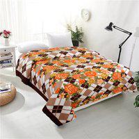 RD TREND Floral Double AC Blanket(Polyester, Brown)