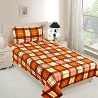 RD TREND Checkered Single AC Blanket(Polyester, Beige)