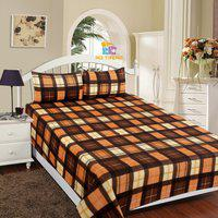 RD TREND Checkered Double AC Blanket(Polyester, Brown)