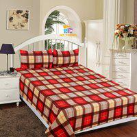 RD TREND Checkered Double AC Blanket(Polyester, Red)