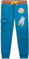 Cherry Crumble California Regular Fit Baby Boys & Baby Girls Blue Trousers
