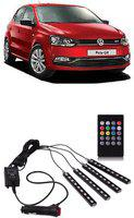 KANDID Atmosphere Lights Car LED/Music Car Interior Light LED/Wireless Remote Control Light247 Car Fancy Lights(Multicolor)