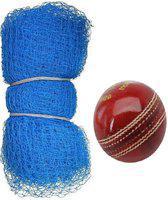skyward 20ftx10ft Nylon Practice Net With 1 Leather Ball Cricket Kit
