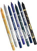 Color Fever Long lasting Blue,Green,Black,Purple,Silver,Golden Pencil Eye Liner 12.6 g(Silver,Golden,Purple,Blue,Navy Blue,Black)