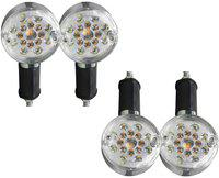 Pivalo Front, Rear LED Indicator Light for Royal Enfield Universal For Bike(Yellow, White)