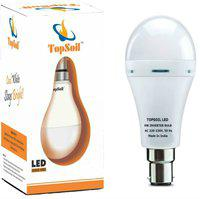 TopSoil 9 W Standard B22 Inverter Bulb(White)