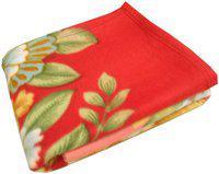 Ruchi World Plain Double Mink Blanket(Polyester, Multicolor)