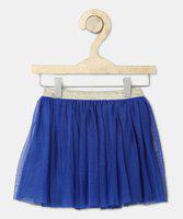 612 League Solid Girls Flared Blue Skirt