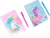 Parteet Dairy Regular Diary Liked by children of all ages, 80 Pages(Multicolor, Pack of 2)