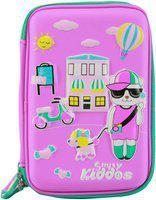 Smily Kiddos 1 embossed Art EVA Pencil Box(Set of 1, Pink)